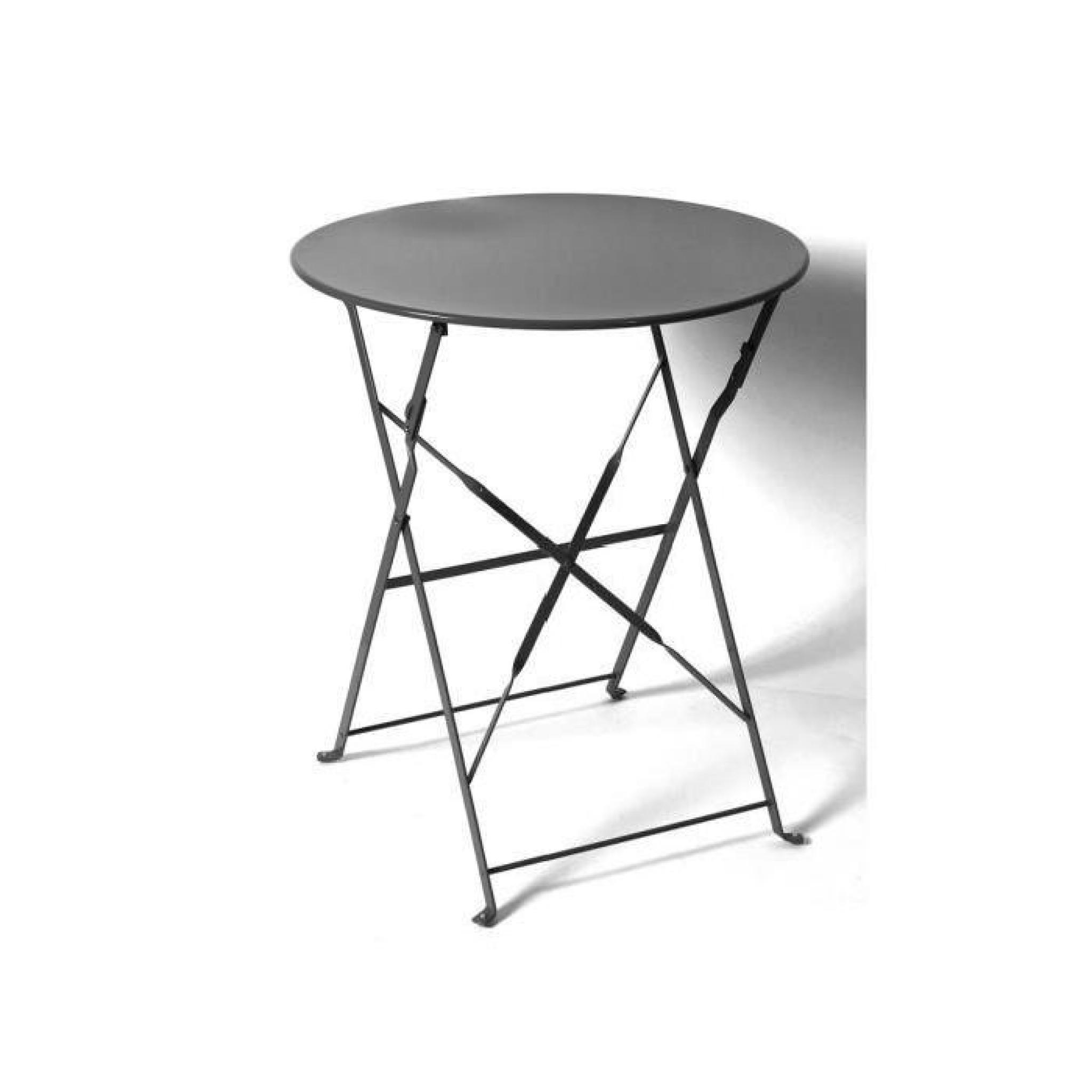 Table ronde camargue pliante 60 cm noire hesp ride - Table ronde pliante pas cher ...