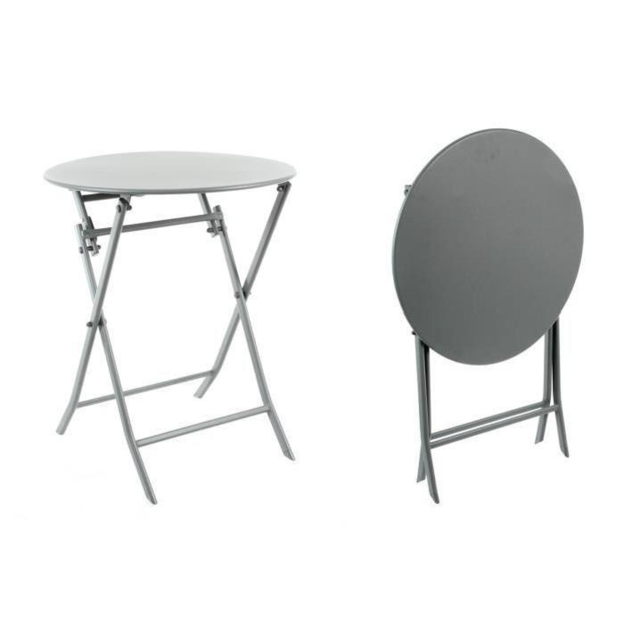 Table ronde GREENSBORO pliante Ø 60 cm ardoise Hespéride
