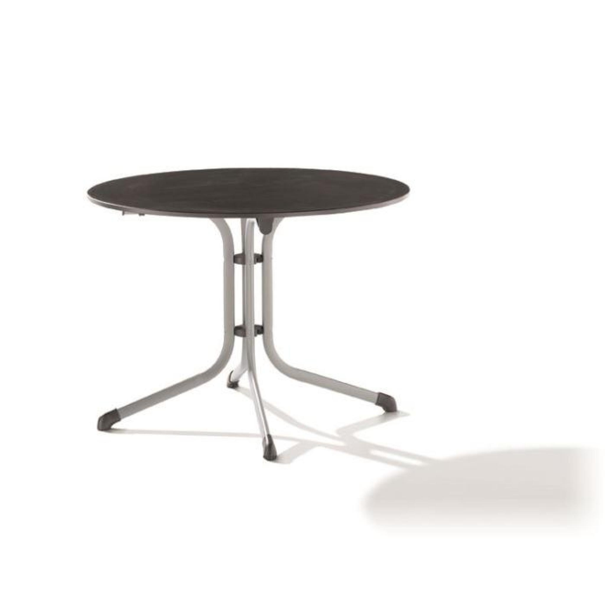 Table ronde puroplan pied tube en acier achat vente for Table ronde pas cher