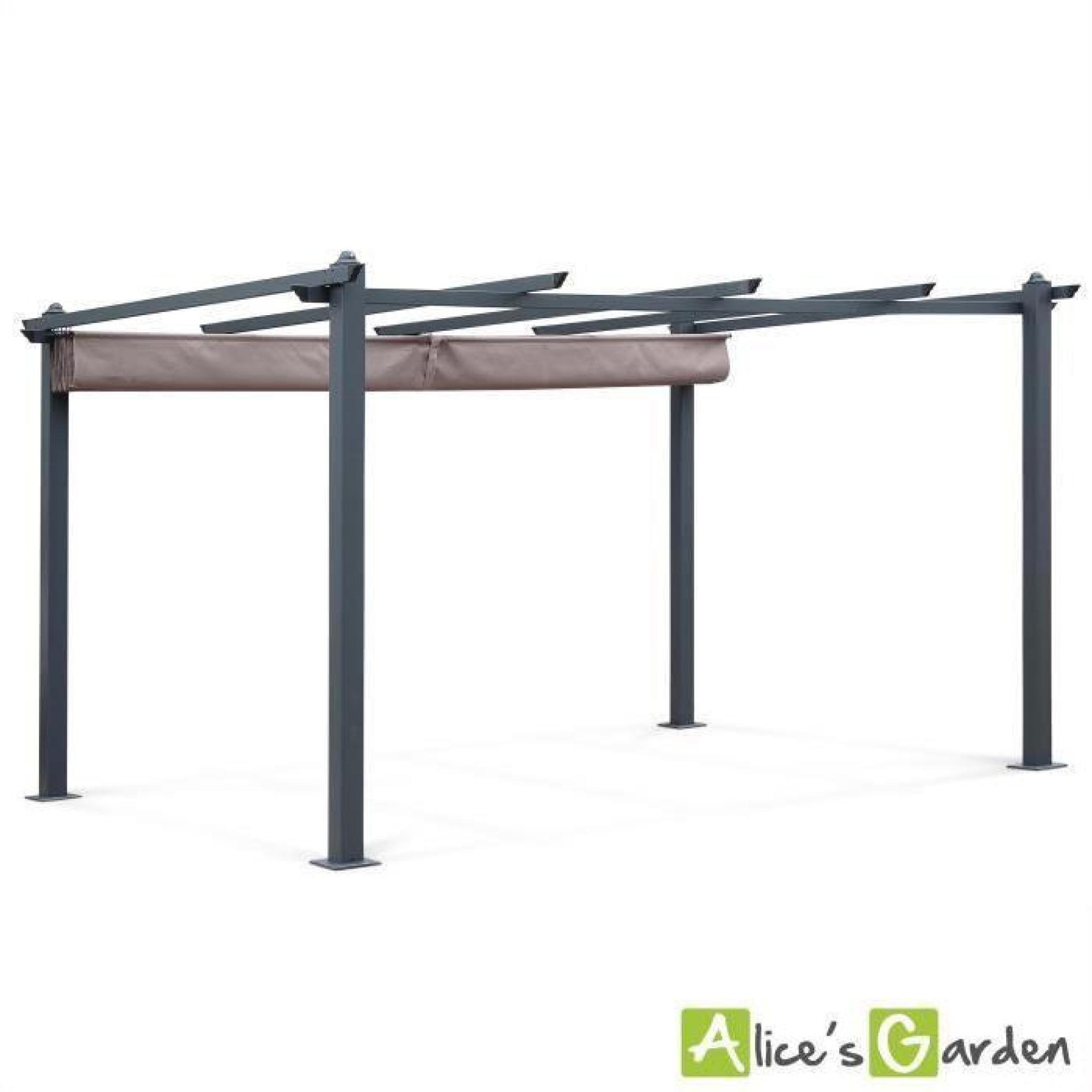 tente de jardin pergola aluminium 3x4m condate taupe. Black Bedroom Furniture Sets. Home Design Ideas