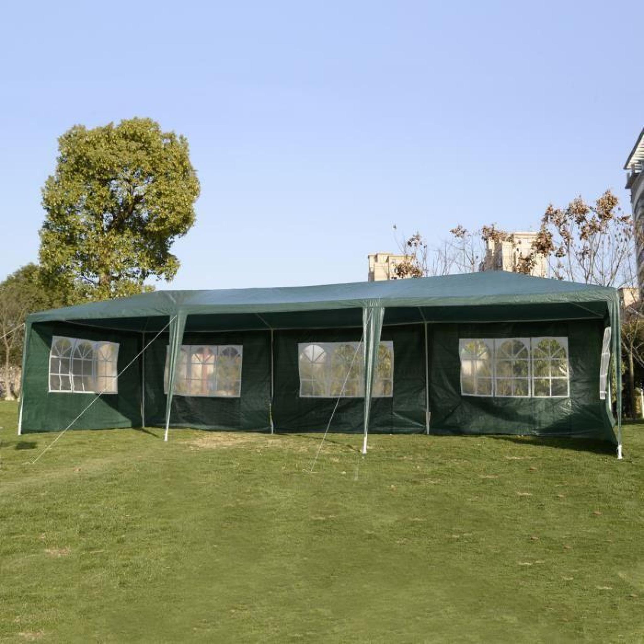 tente de reception 3x9 m tonnelle chapiteau fen tres cot s. Black Bedroom Furniture Sets. Home Design Ideas