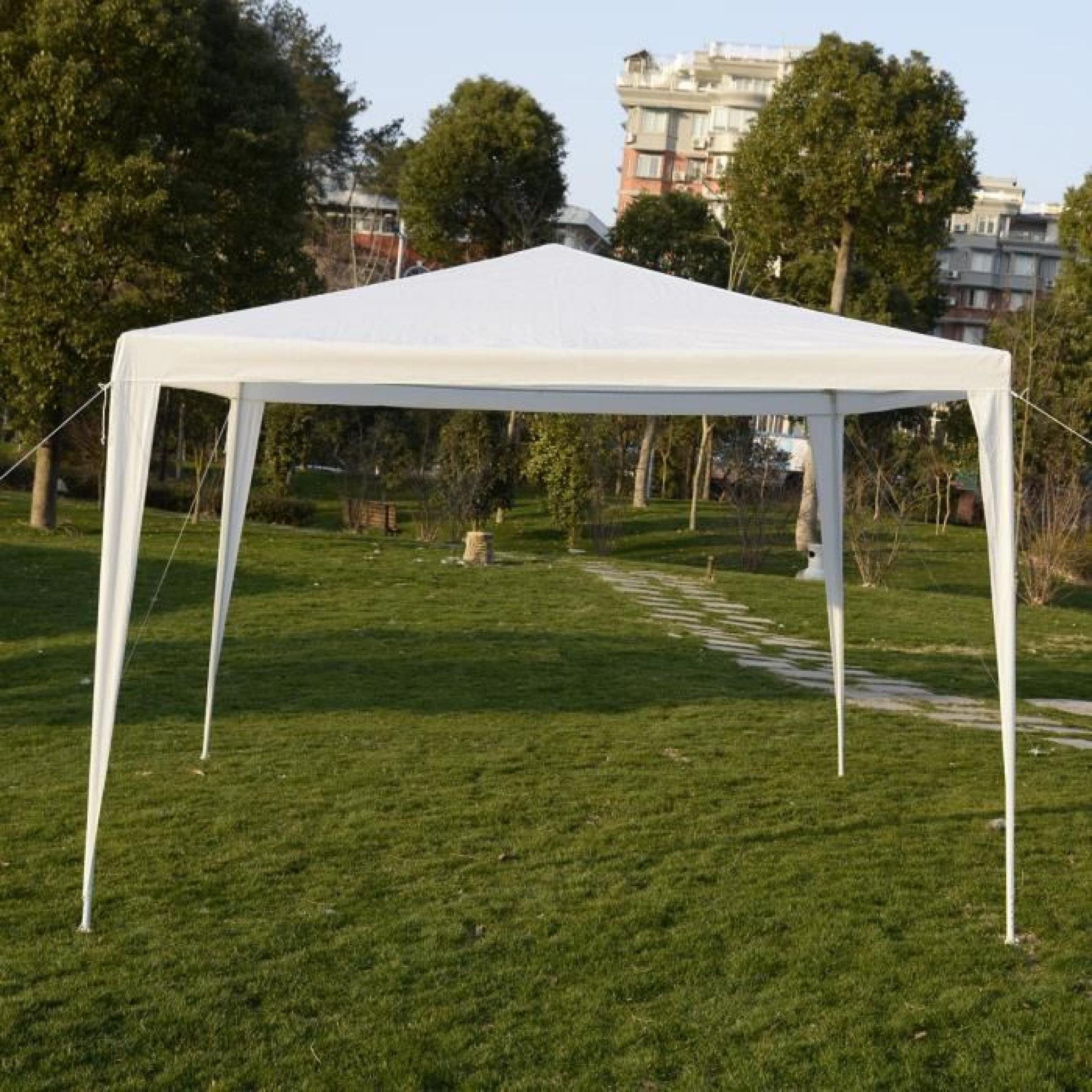 tente pavillon chapiteau tonnelle de jardin 3x3m pebarnum parfait achat vente tonnelle en. Black Bedroom Furniture Sets. Home Design Ideas