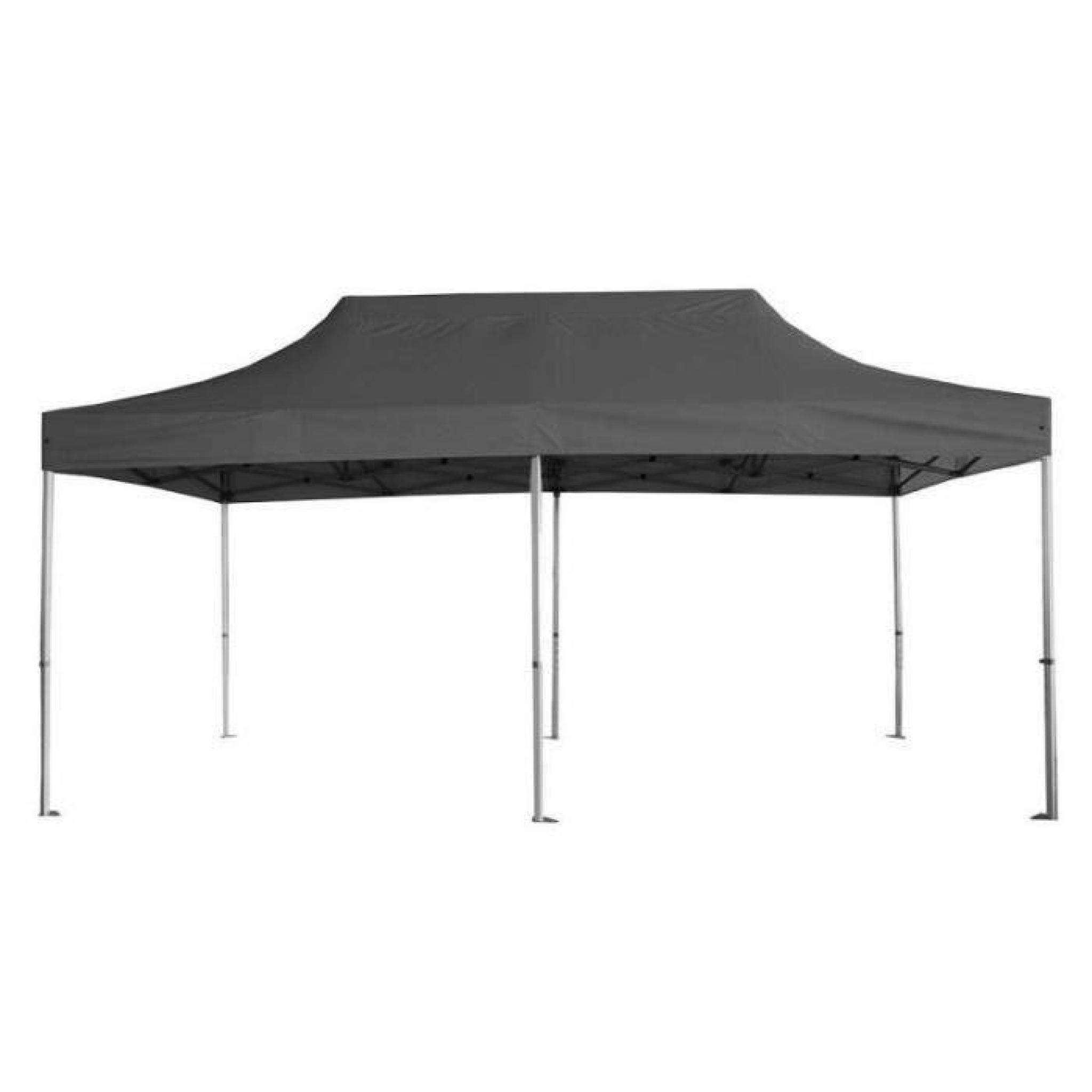tente pliante barnum 3x6 m pro grise achat vente pergola en aluminium pas cher. Black Bedroom Furniture Sets. Home Design Ideas