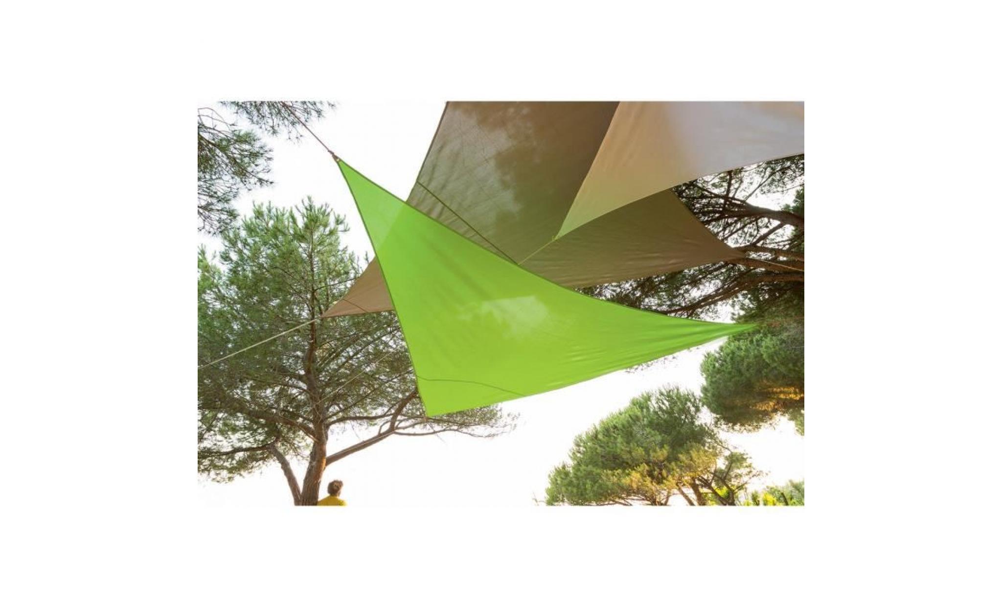 toile solaire voile d 39 ombrage 3 x 3 x 3 m imper achat vente voile ombrage pas cher. Black Bedroom Furniture Sets. Home Design Ideas