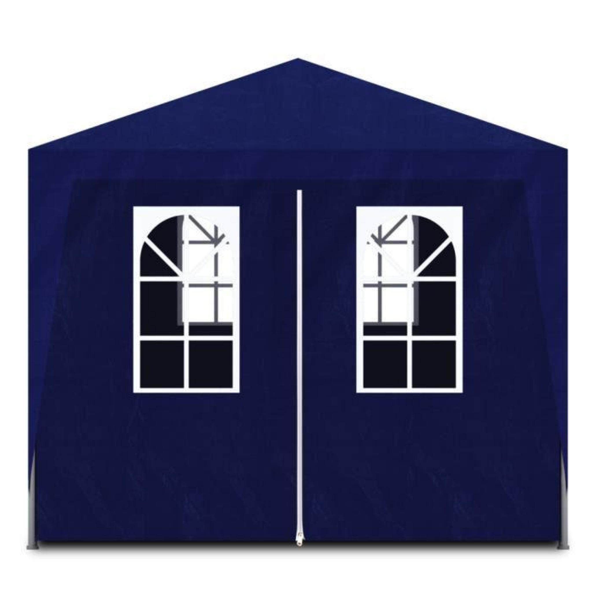tonnelle de jardin tente de r ception 8 murs bleu 9 x 3 x 2 5 m achat vente. Black Bedroom Furniture Sets. Home Design Ideas