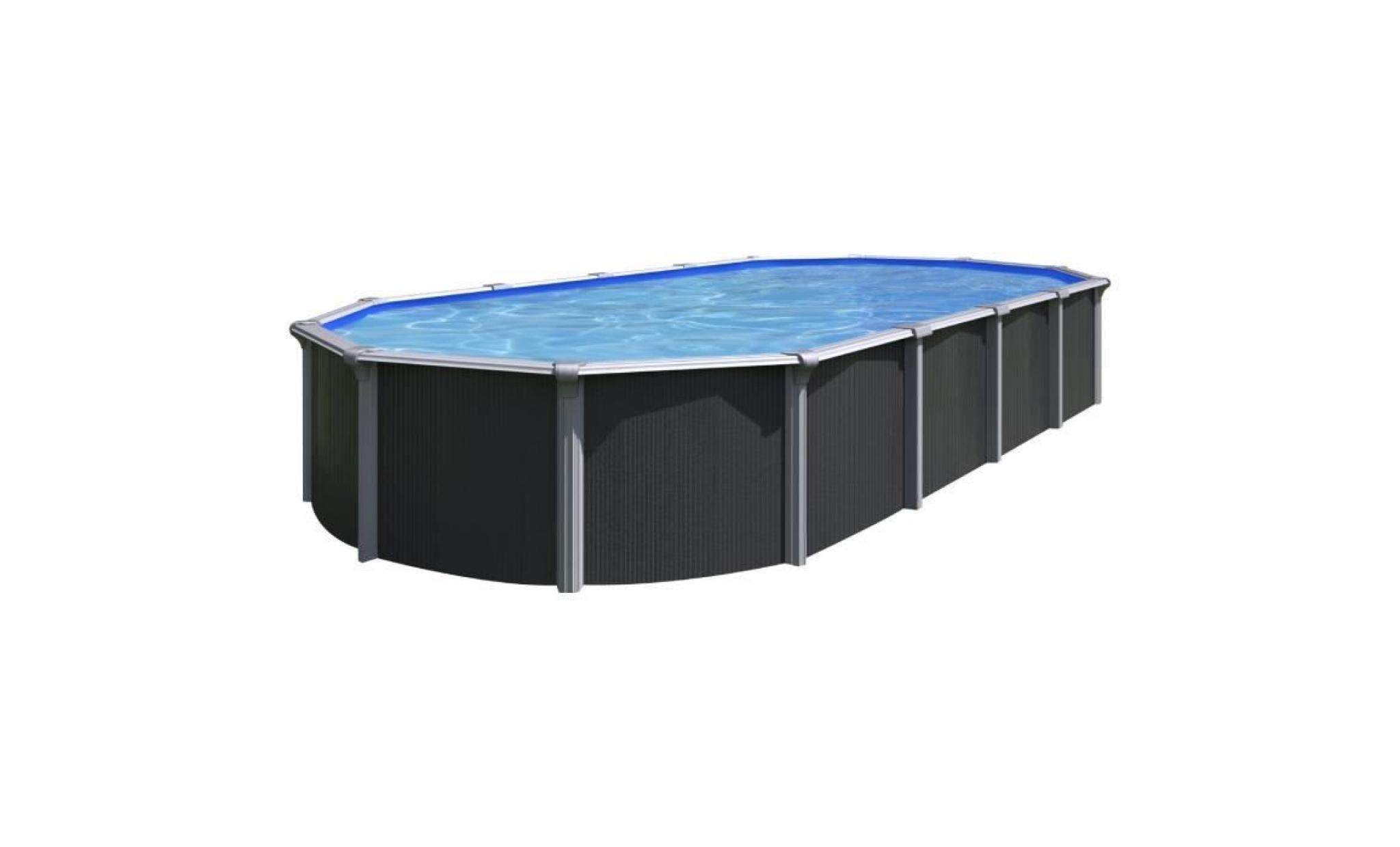 trigano piscine métal hors sol osmose 9,9 x 9,99 x 9,92 m gris anthracite