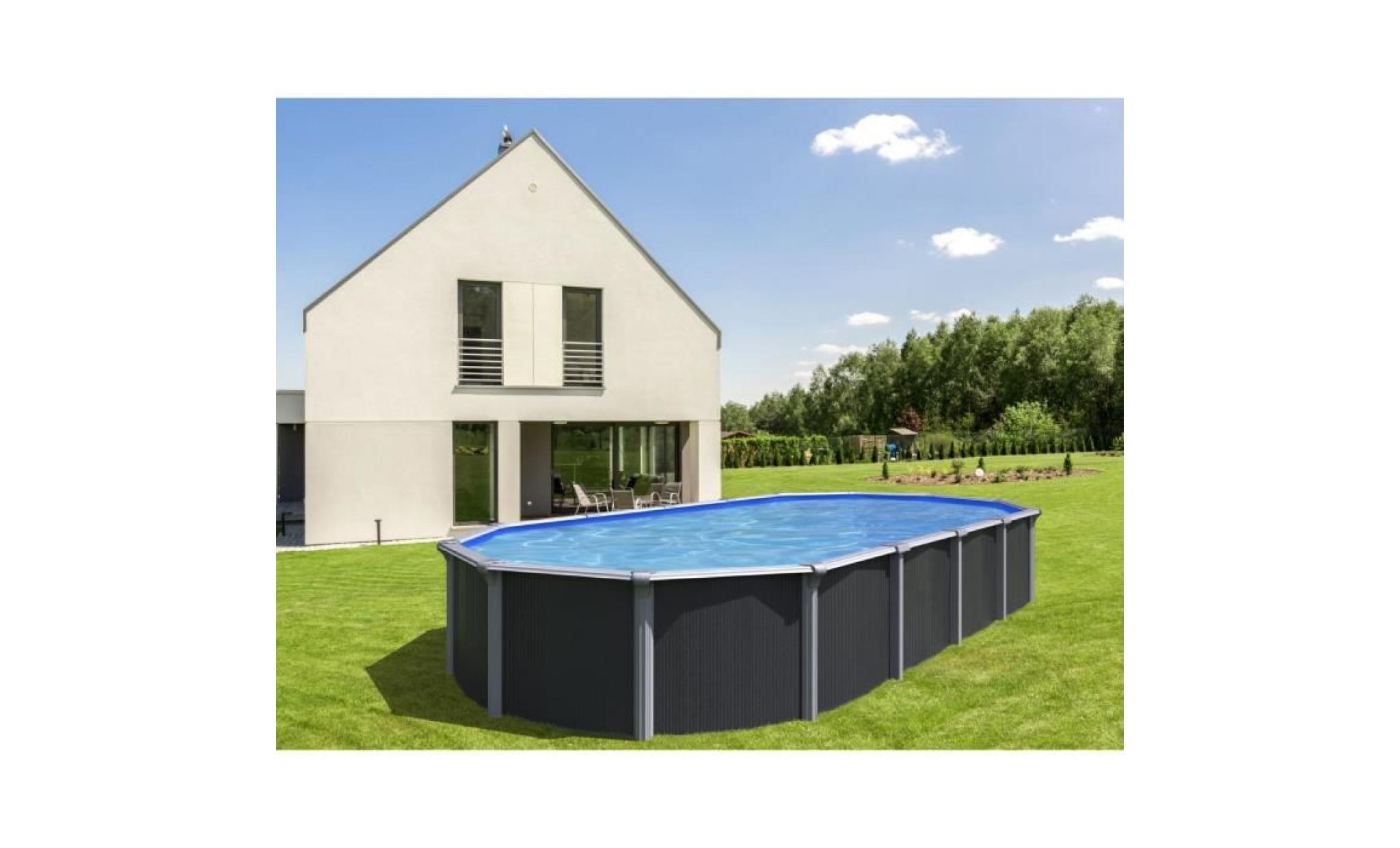 Trigano piscine m tal hors sol osmose 7 60 x 3 95 x 1 32 m - Piscine hors sol acier pas cher ...
