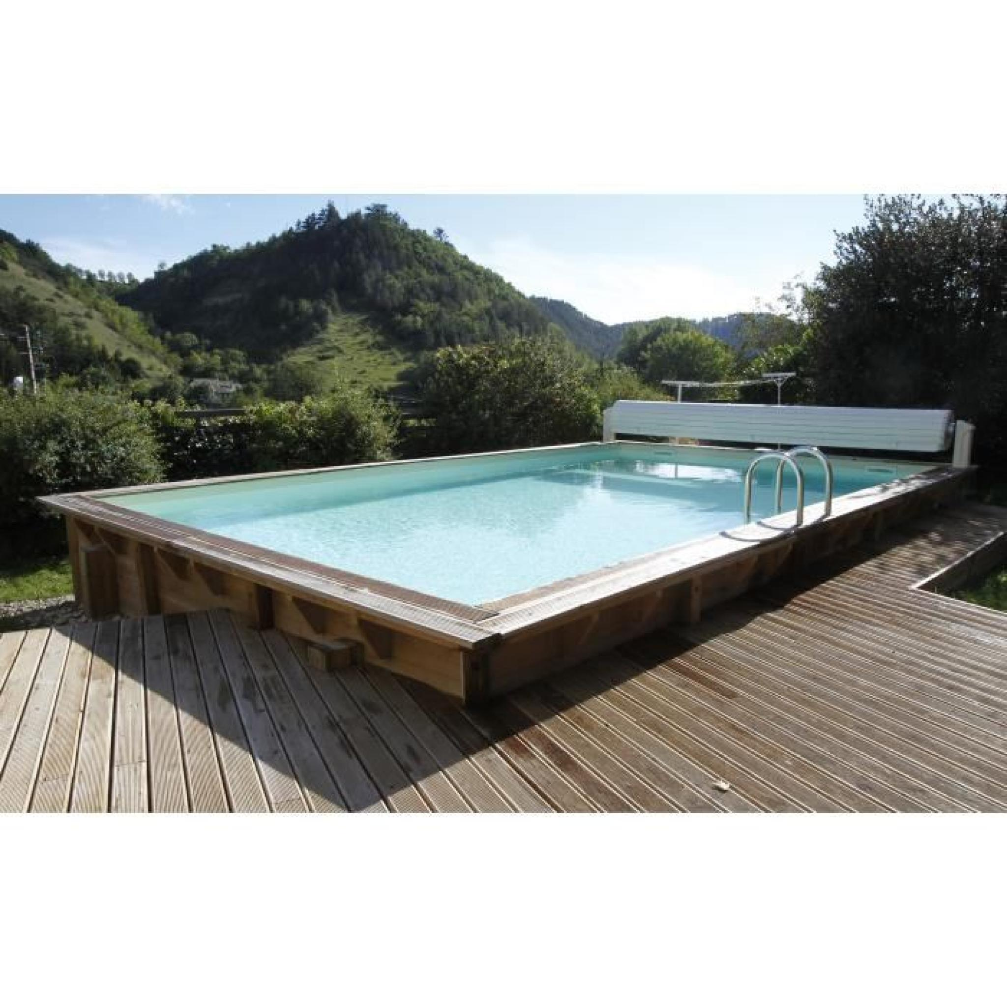 ubbink piscine octogonale en bois lin a 350x650xh140 cm liner sable achat vente piscine en. Black Bedroom Furniture Sets. Home Design Ideas