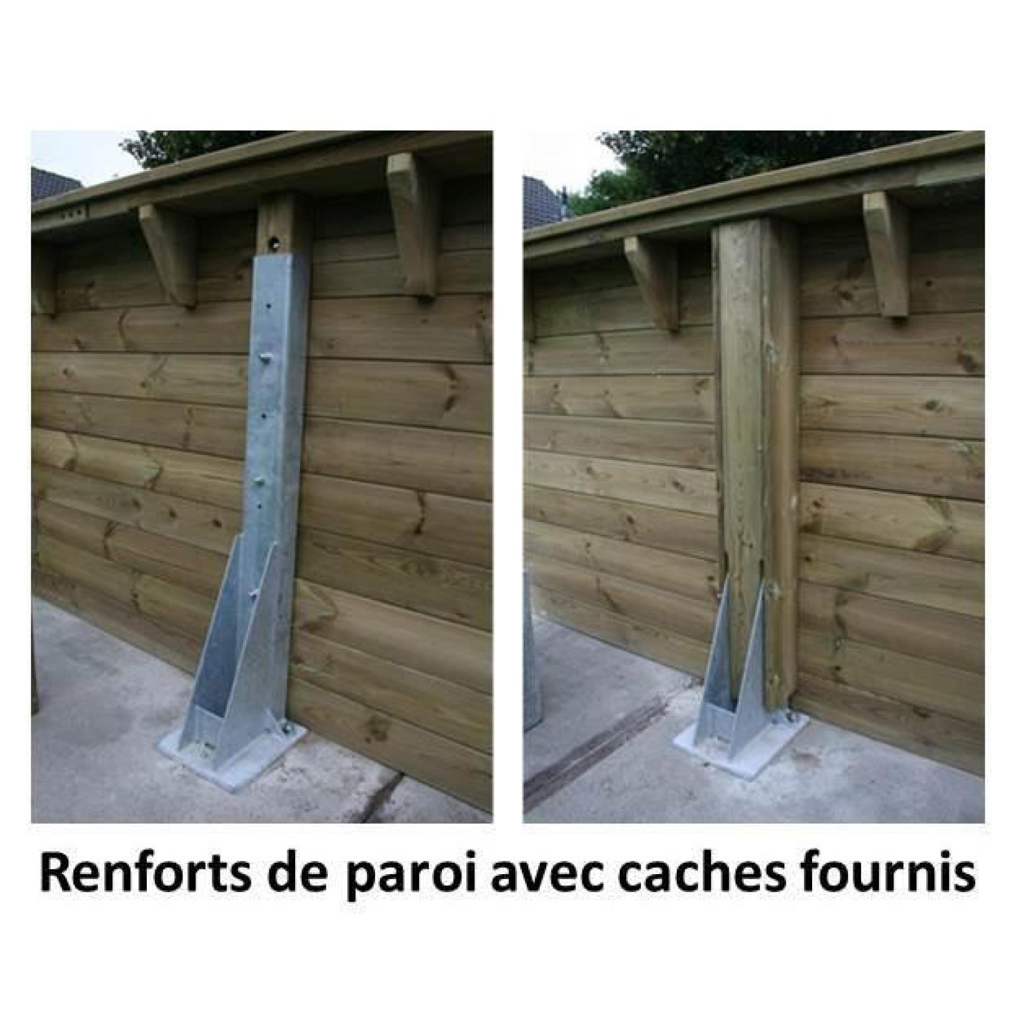 Ubbink piscine octogonale en bois lin a 350x650xh140 cm for Promo piscine bois octogonale