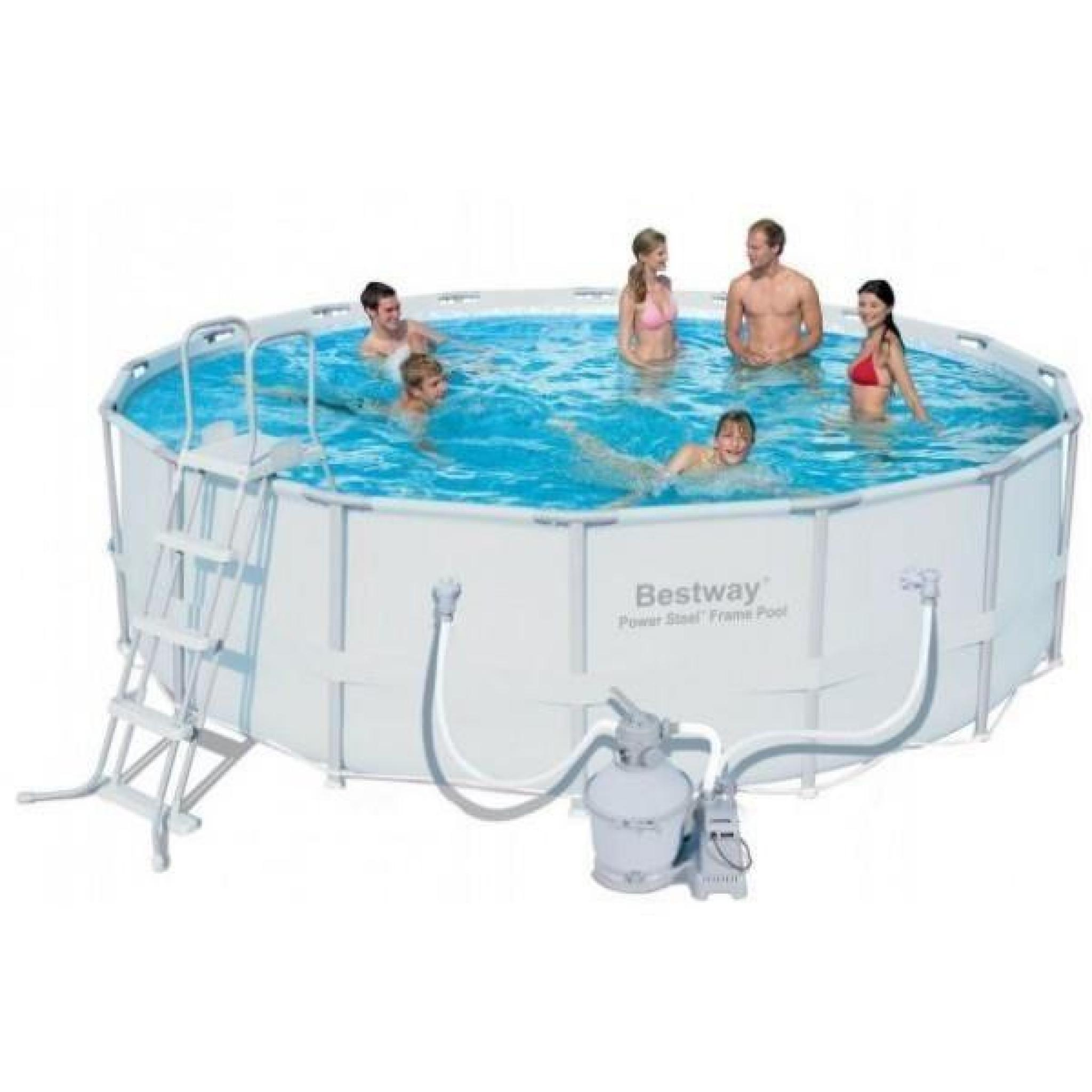 un kit piscine tubulaire ronde bestway de m filtration a sable achat vente piscine. Black Bedroom Furniture Sets. Home Design Ideas