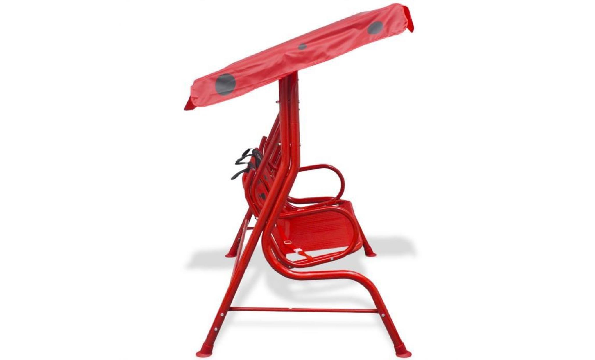 vidaxl si ge balan oire pour enfants rouge achat vente. Black Bedroom Furniture Sets. Home Design Ideas