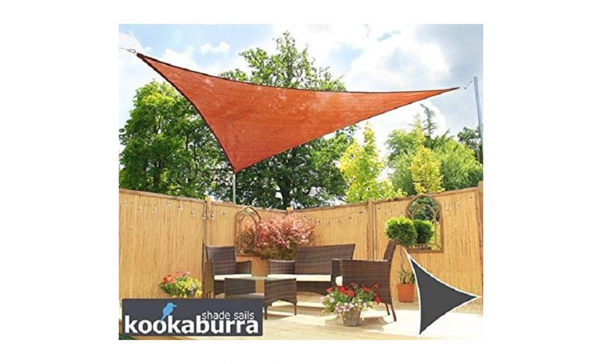 voile d 39 ombrage terracotta triangle 5m ajour e 320g m2. Black Bedroom Furniture Sets. Home Design Ideas