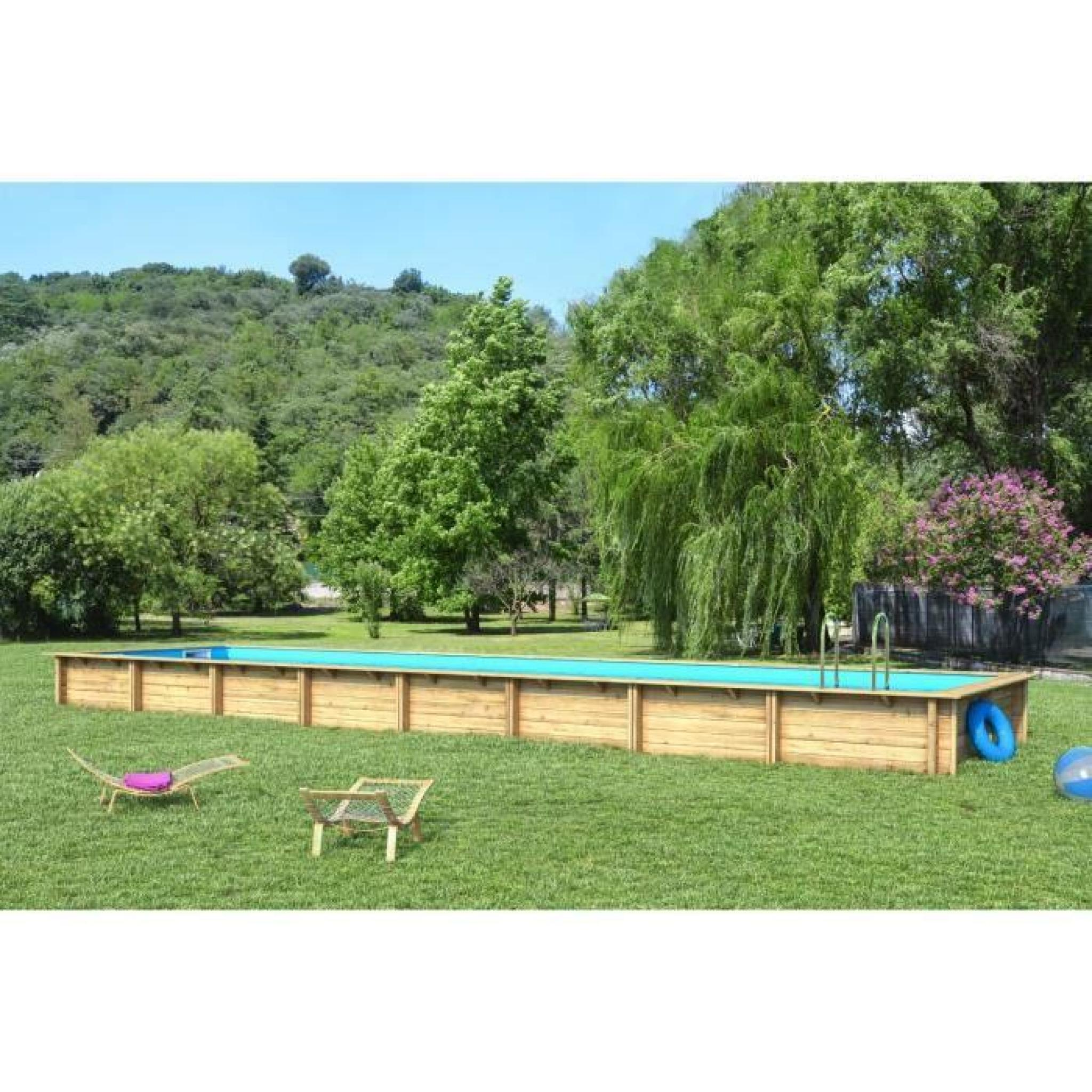 Weva piscine bois rectangle 9x3 m hauteur 1 33 m achat for Piscine jardin rectangle