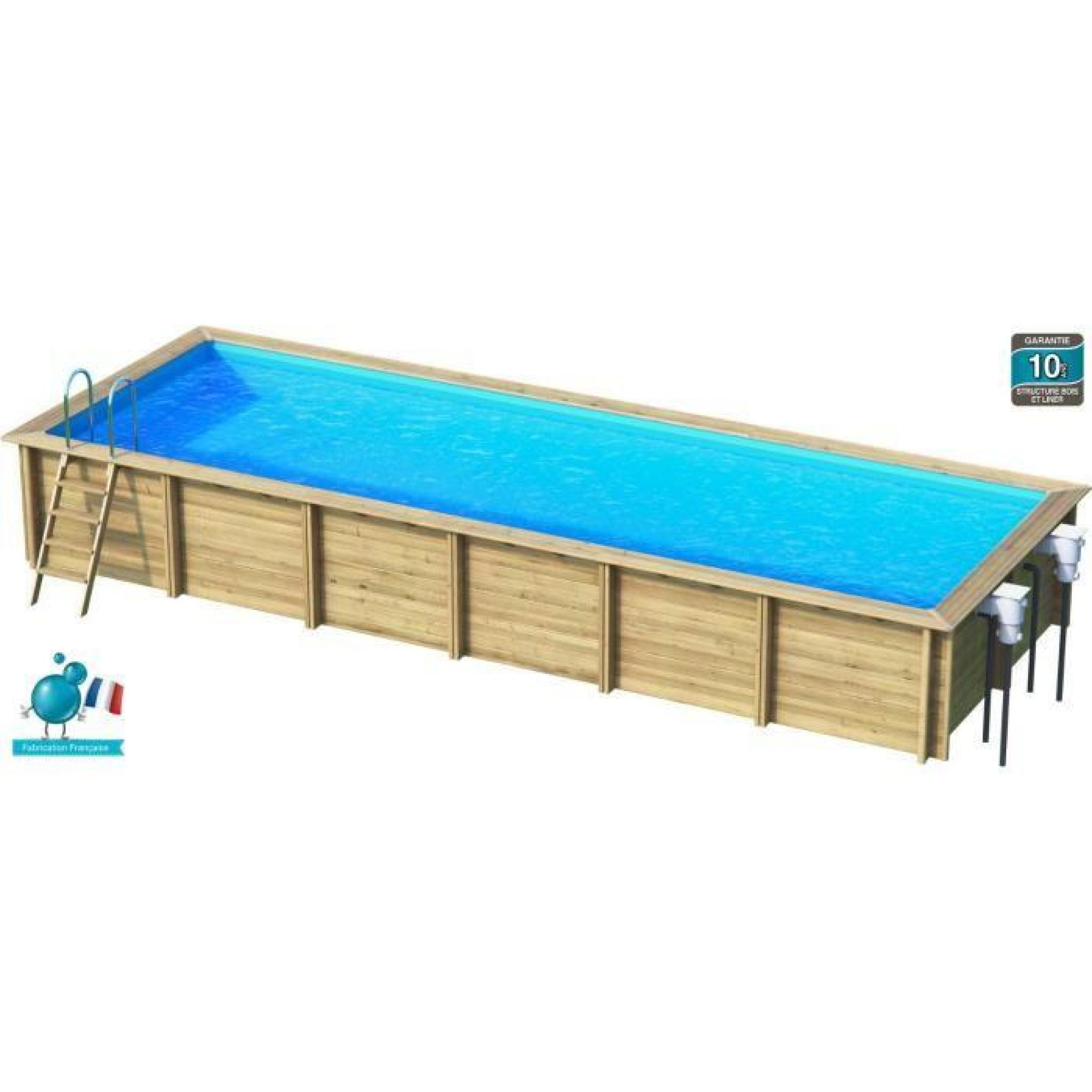 Weva piscine bois rectangle 9x3 m hauteur 1 33 m achat for Piscine 33