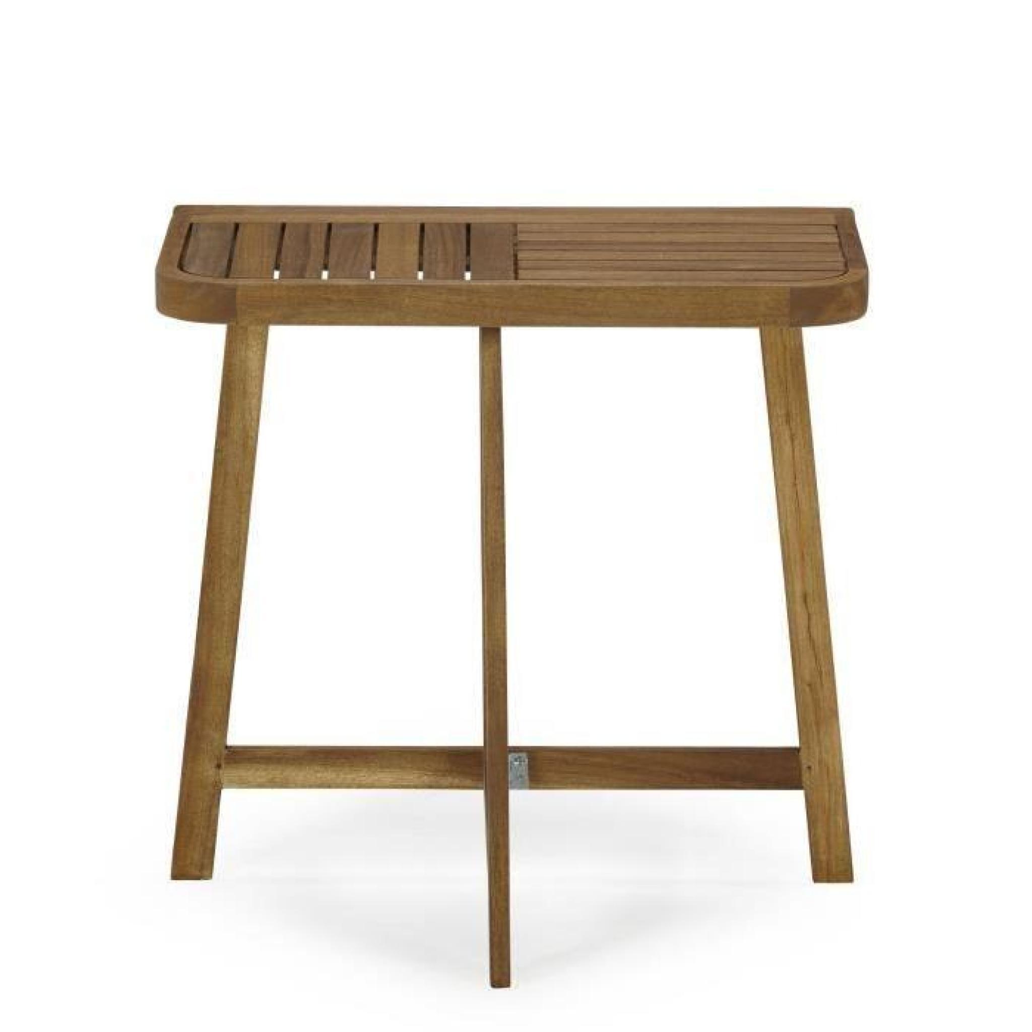 Youk Demi Table Pliante Pour Balcon Acacia Huile Achat Vente Table