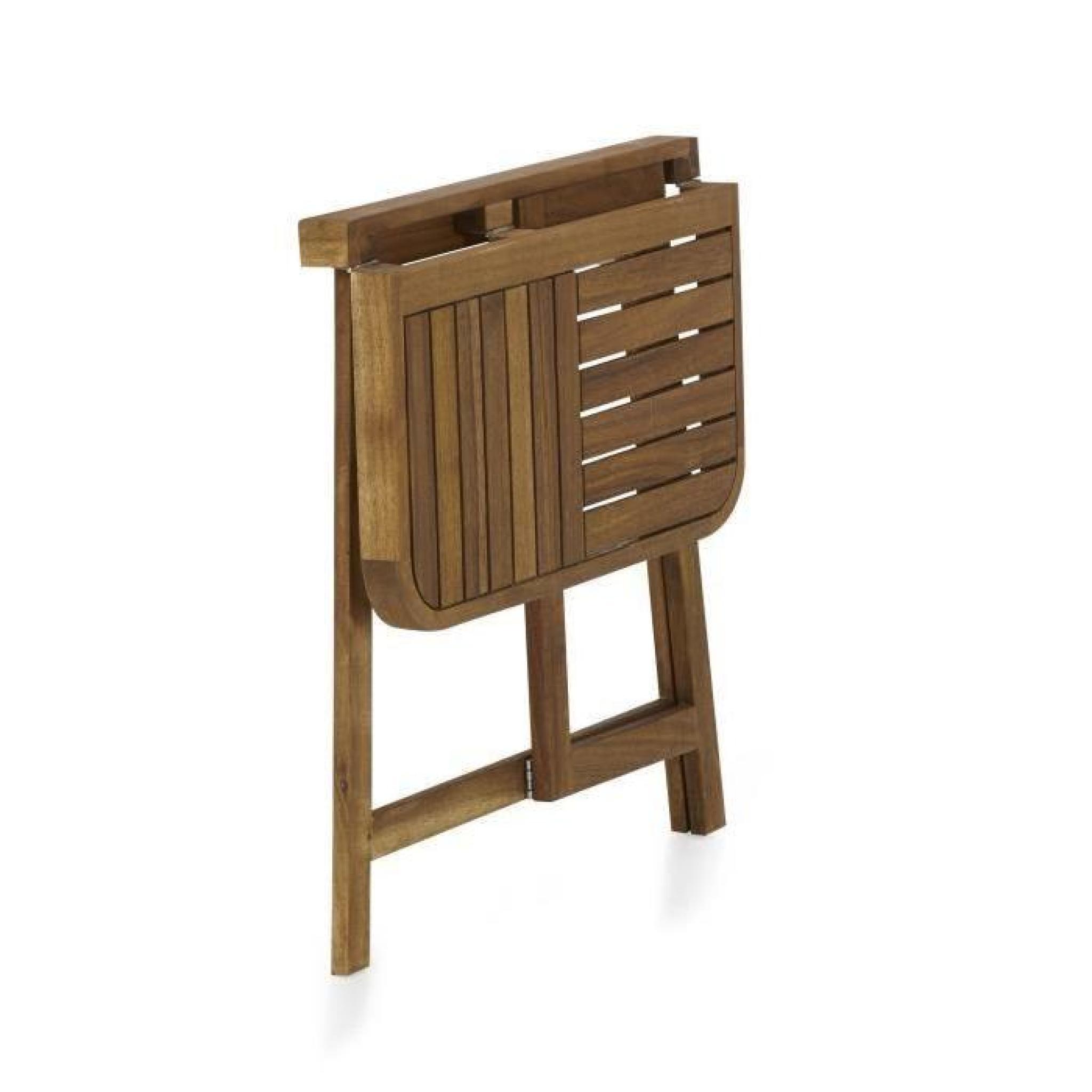youk demi table pliante pour balcon acacia huil achat. Black Bedroom Furniture Sets. Home Design Ideas