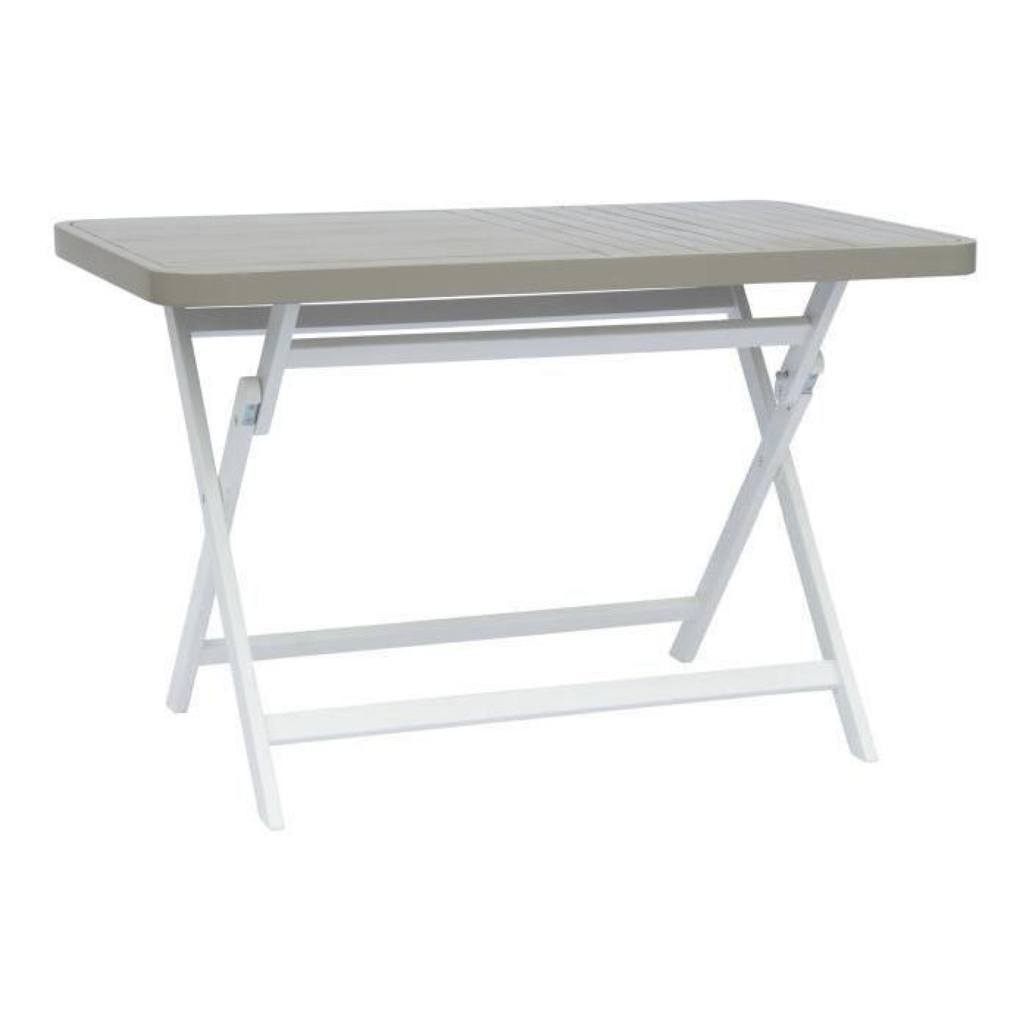 Youk Table de jardin rectangulaire pliable grise - Gris