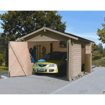 - Garage 11,61m² pin du nord naturel - ép 28 mm pas cher