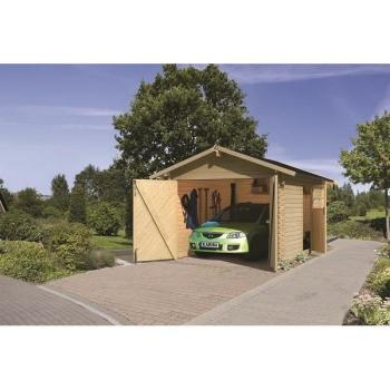 - Garage en madriers 28 mm en pin naturel de 11.6… pas cher
