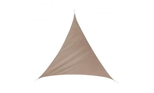 Voile ombrage Hesperide  - toile solaire + cordes quito 5x5x5 m taupe hespéride pas cher