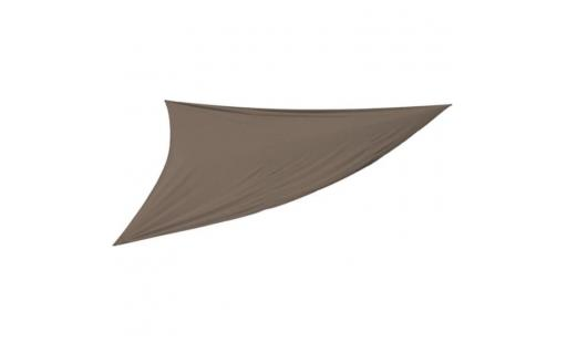 Voile ombrage Pegane  - voile d'ombrage triangulaire coloris taupe   dim : 5 x 5 x 5 m pas cher